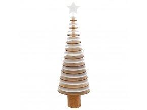 Dekorativní vánoční stromek, 40 cm, Vánoční strom z přírodního dřeva, balení po 2