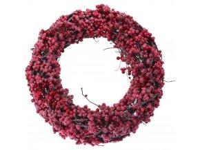 Červená vánoční čelenka s jeřáb, Ø 33 cm