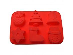 Forma, vánoční téma, černá, 3D cookie, 31 x 17 cm