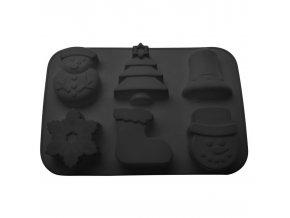 Forma, Vánoční téma, černá, 31 x 17 cm, 3D cookie