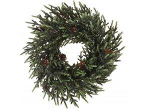 Vánoční věnec, tmavě zelený s kužely Ø 36 cm