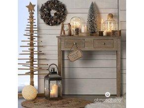 Dekorativní lucerna, lucerna, svícen, kov, sada 3