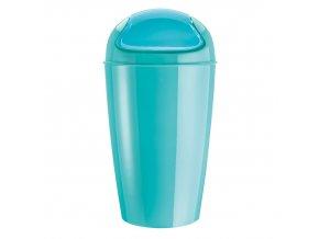Kancelářský odpadkový koš DEL XL, 30 l - barva tyrkysová, KOZIOL