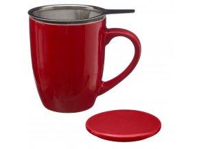 Hrnek na vaření čaje 320 ml Secret de Gourmet, červený