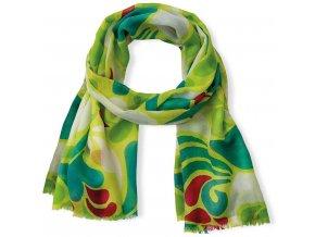 Florina šátek, šátek, zelená barva, pamatujte