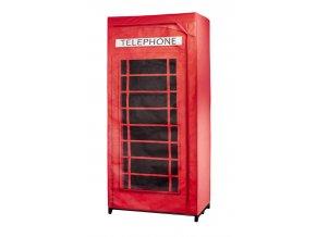 Šatník, skříň na oblečení, TELEPHONE BOOTH GB, 160x75x45cm, WENKO