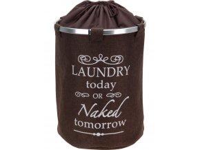 Kulatý koš na prádlo DELUXE Brown, jutová tkan