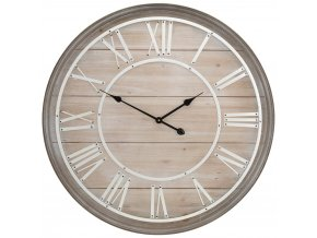 Nástěnné hodiny přírodní vzor, 80 cm
