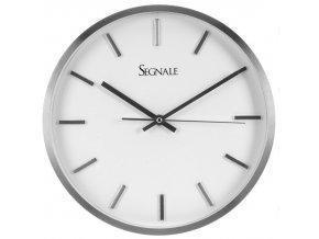 Kulaté nástěnné hodiny, SEGNALE, hliník, Ø 30 cm Segnale