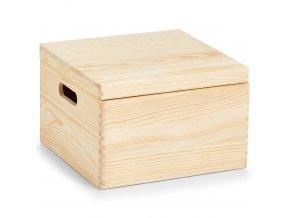 Skladovací box z borového dřeva, 30x19 cm