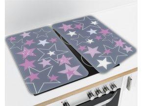 Ochranné skleněné panely STARS ROSE na sporák – 2 ks, WENKO