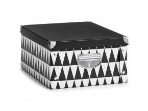 Dekorativní uzamykatelná krabice, organizátor lepenky, stylová krabice pro ukládání drobností a dokumentů.