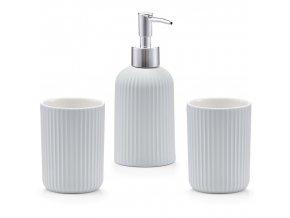Keramické příslušenství pro koupelnu, sada kontejnerů pro ranní toaletu, dávkovač mýdla s pohodlným čerpadlem.