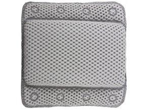 Polštář do koupele pro přísavky, opěrka hlavy - barva šedá