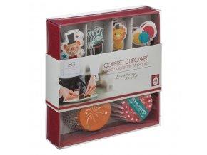 Sada pro zdobení muffinů, mini-cupcakes, 48 kusů - Cirkus