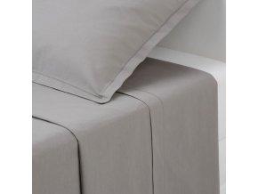Bavlněný plech - šedá, 180 x 290 cm