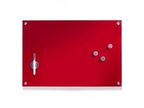 Skleněná červená tabule MEMO, 60x40 cm, ZELLER