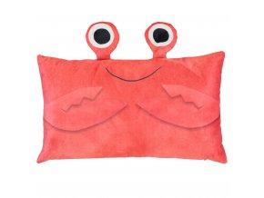 Polštář Krabi, barevný dětský polštář, 30 x 50 cm