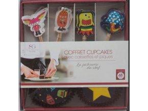 Sada pro zdobení muffinů, mini-cupcakes, 48 kusů - Monsters