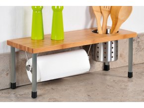 Kuchyňský stojan, víceúčelová police pro kuchyň a koupelnu 3v1
