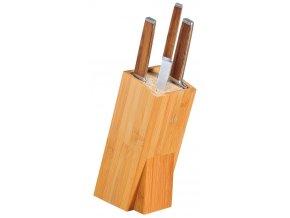 Nůž blok, kontejner s bambusovou vložkou pro ostré kuchyňské příbory