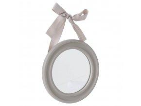 Dekorativní nástěnná zrcadlová sada se stuhou - 3 kusy v sadě, šedá