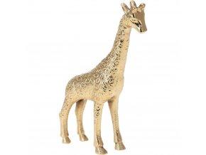 Zlatá žirafa 21 cm vysoká, hliníkový materiál, jedinečná výzdoba bytu, čisté detaily