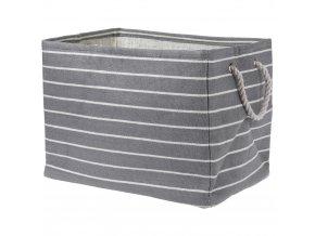 Koš na skladování, košík na prádlo, nádoba na hračky, 43x30x32 cm, šedé odstíny