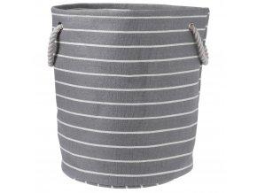 Skladovací koš, koš na prádlo, kontejner na hračky, odstíny šedé