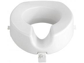 Bílé plastové toaletní sedátko Secura, 44x17x41,5 cm, Wenko