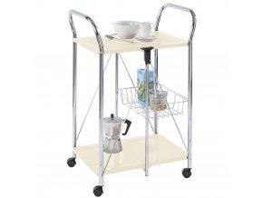 SUNNY dvouúrovňový vozík pro servírování jídel, skládací transportér s extra košíkem - WENKO
