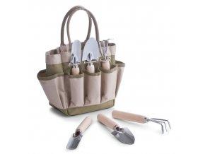 Taška na zahradní náčiní + 2x  lopata, hrábě, ZELLER