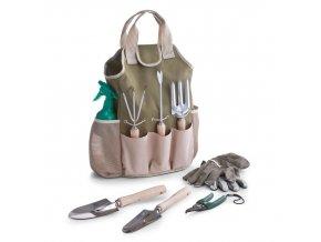 Taška na zahradní náčiní + 8 ks zahradního nářadí, ZELLER,