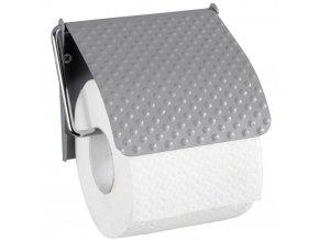 PUNTO ocelový držák pro toaletní papír, věšák s klapkou pro role - WENKO