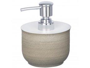 Dávkovač s kapalným mýdlovým čerpadlem, nádoba s protiskluzovým povlakem - 240 ml, WENKO