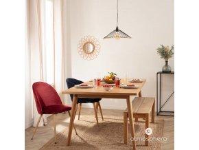 Zrcadlo v pleteném rámu, bezprecedentní proutěný předmět zajímavé formy pro obývací pokoj nebo ložnici