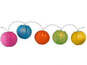 FESTIVAL světelný věnec, zářící koule, 10 LED světel, vícebarevný