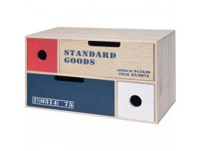 Mini dřevěná komoda pro drobné předměty - 4 zásuvky