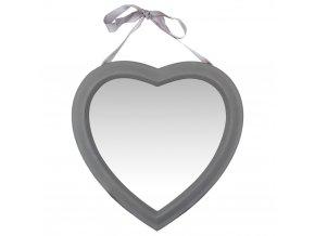 Dekorativní zrcadlo ve tvaru srdce, závěsné zrcadlo v dřevěném rámu - Atmosphera Créateur d'intérieur