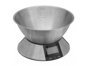 Stolní váha s displejem a ocelovou miskou, elektronické zařízení pro domácí použití - SECRET de GOMURME