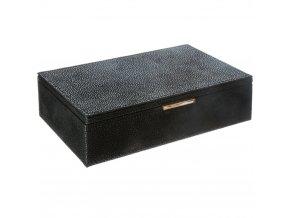 Krabice na šperky s několika přihrádkami a zrcadly, dárková krabička - 21,5 x 14 x 5,5 cm, Atmosphera Créateur d'intérieur