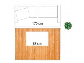 Obdélníkový bambusový rohož velký v béžové, přírodní pletený koberec pro různé interiéry