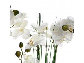 Složení květin - orchidej s keramickým hrncem, výška 53cm