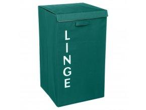 LINGE skládací koš na prádlo, zelený kontejner na prádlo, 82 L