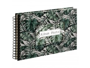 Fotoalbum, Fotoalbum, 160 stránek, Spirála, Tropický list motiv