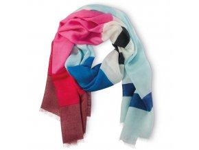 """Bambusový šátek """"Proužky Modré"""""""