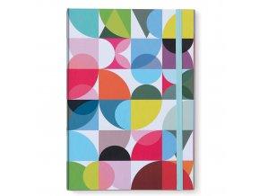Elegantní barevný zápisník A4 SOLENA