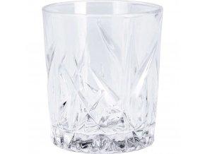 Whisky sklo s dekorativní rytinou, luxusní křišťálové sklo na džusy a nápoje