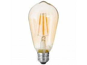 Dekorativní LED žárovka v oranžové barvě, úspora energie, ST64 4W