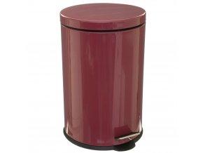 20L odpadní koš z nerezové oceli, červený odpadkový koš pro kuchyň, pokoj nebo koupelnu